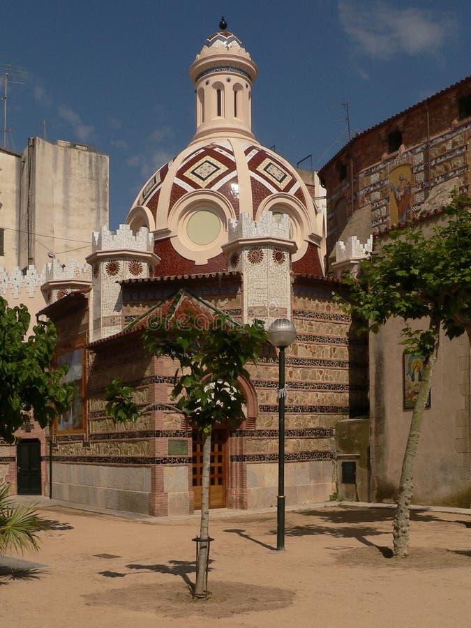 Un tempio singolare nella città della stazione termale in Spagna fotografia stock libera da diritti