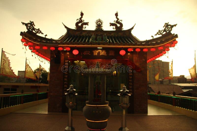 Un temple dans le style chinois image libre de droits