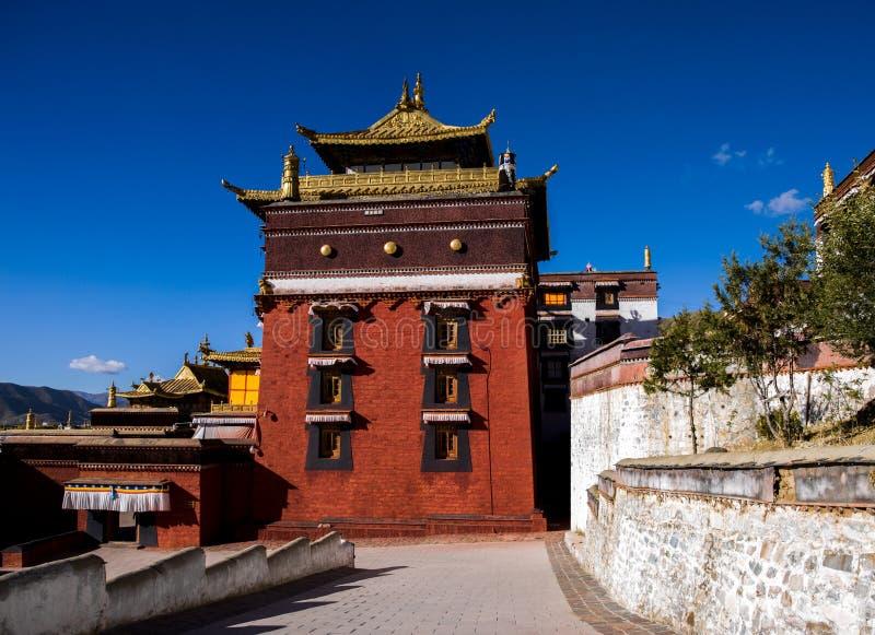 Un temple dans Rikaze, Thibet, temple de Zhashilunbu photographie stock