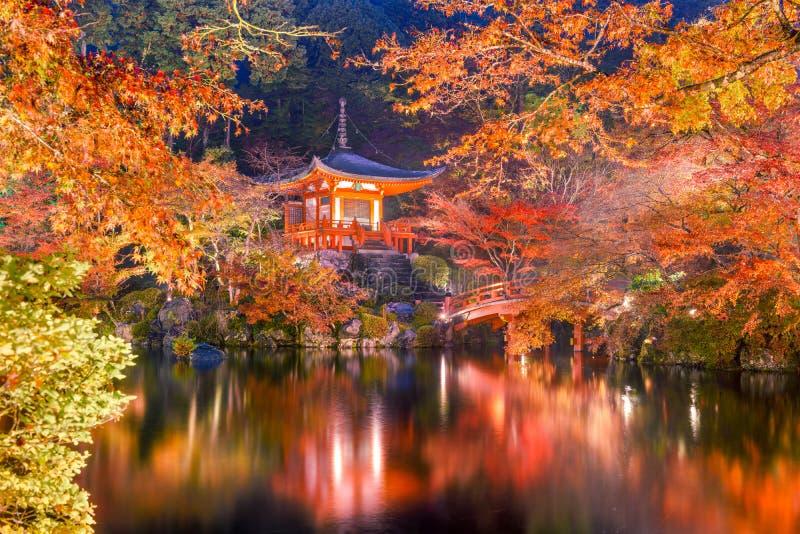 Un temple de Kyoto en automne image libre de droits
