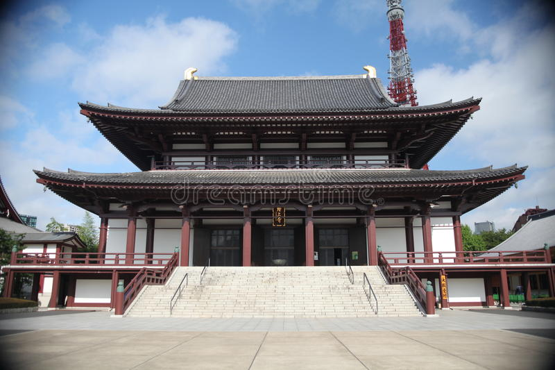 Un temple de Zojoji image stock