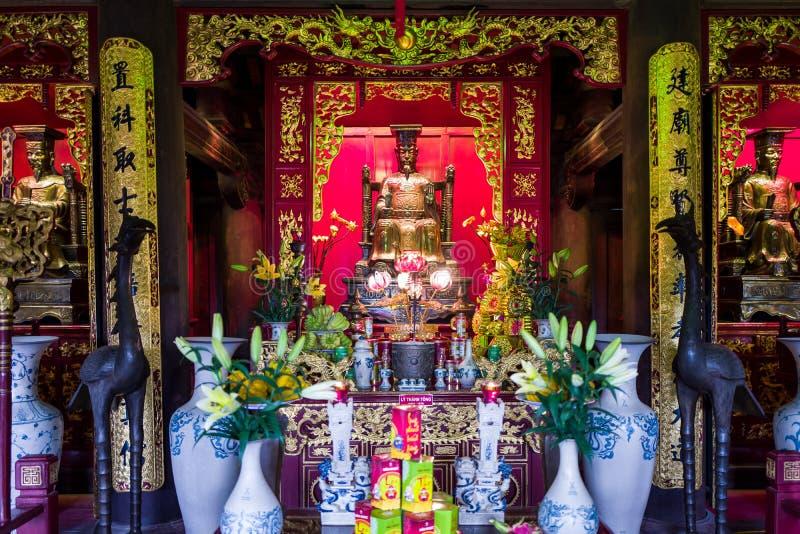 Un templo en Hanoi, Vietnam fotografía de archivo