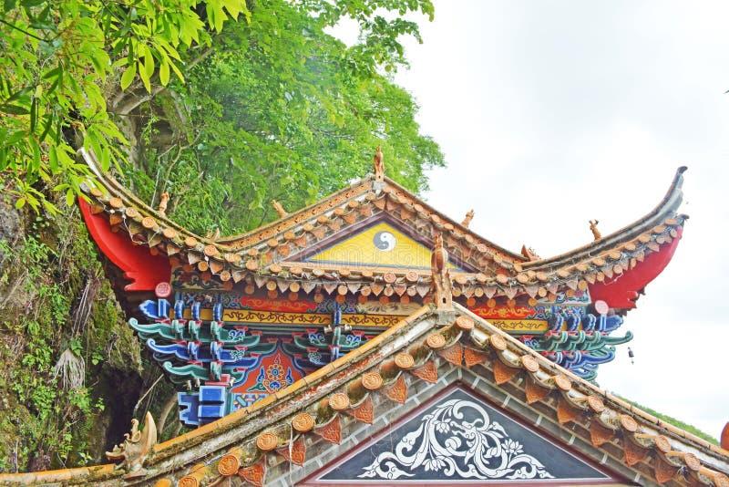 Un templo magnífico del Taoist foto de archivo libre de regalías