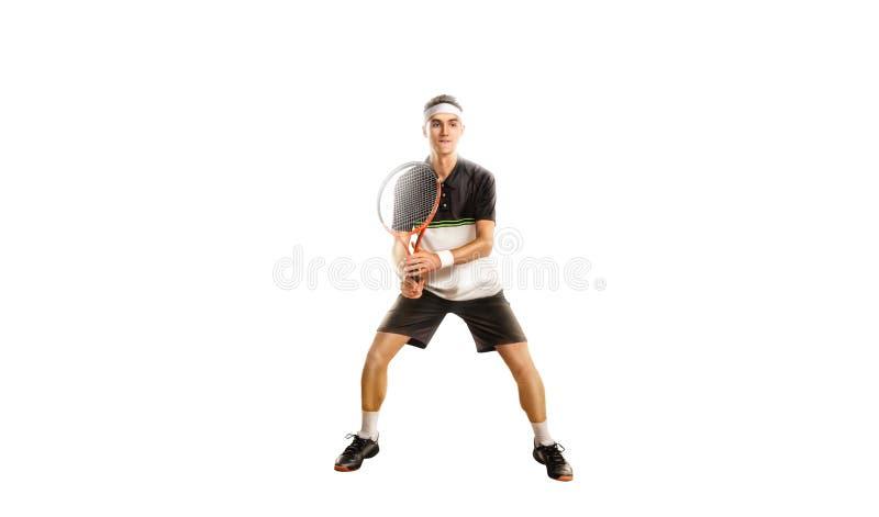 Un tennis isolato su fondo bianco fotografia stock