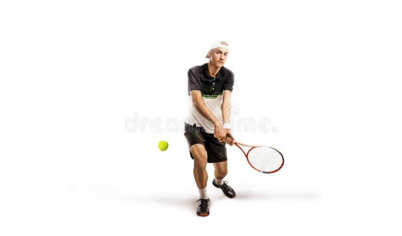 Un tennis isolato su fondo bianco immagine stock