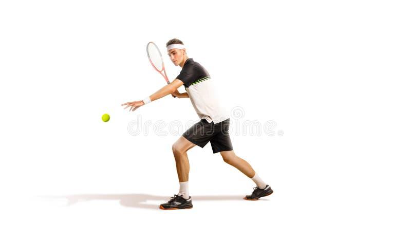 Un tennis isolato su fondo bianco immagini stock