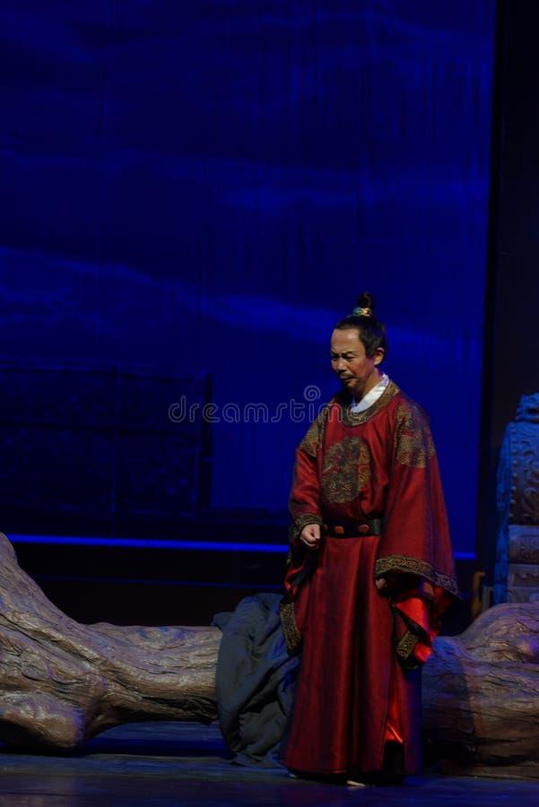 Un tercer acto del rey- dejected: la noche del drama histórico montaña-grande del acantilado, ` Yangming ` de tres noches foto de archivo libre de regalías