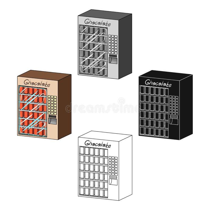 Un terminal con los diferentes tipos de chocolate Los terminales escogen el icono en la acción isométrica del símbolo del vector  ilustración del vector