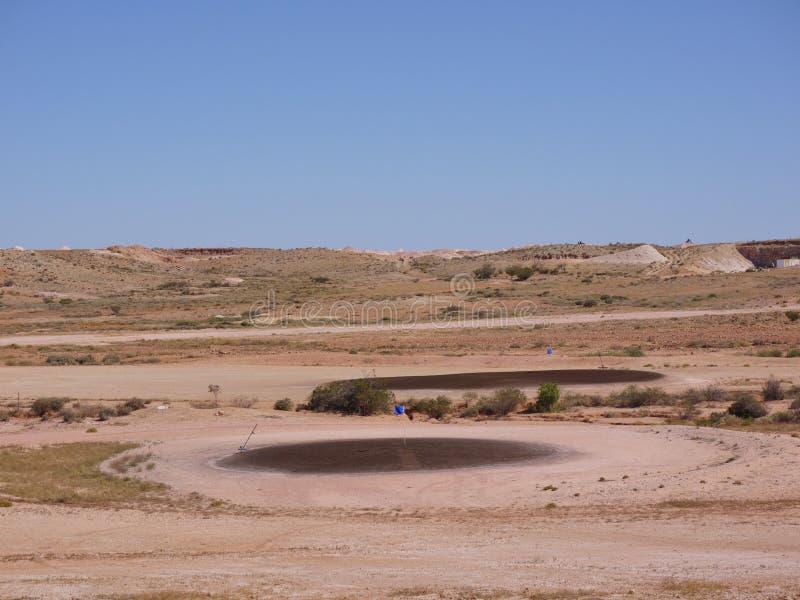 Un terrain de golf australien dans l'intérieur image libre de droits