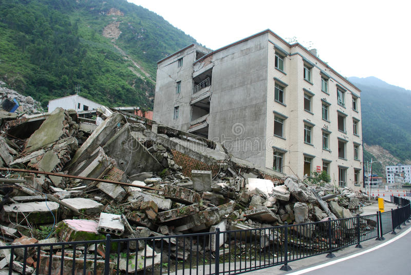 Un terremoto di 2008 512 Wenchuan immagine stock libera da diritti