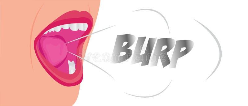 Un testo del rutto dalla bocca royalty illustrazione gratis