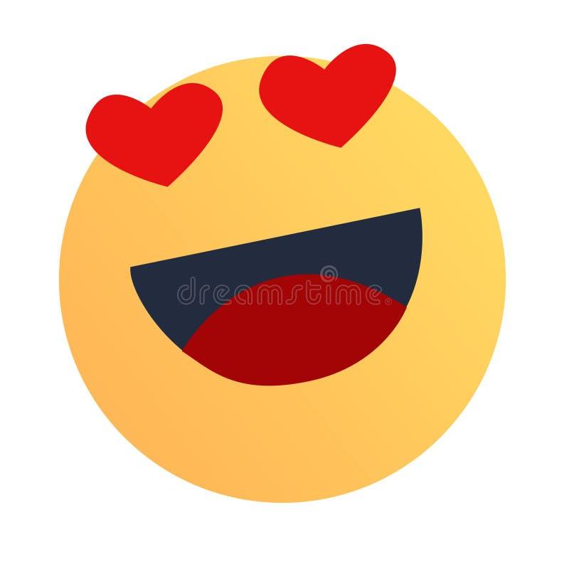 Un tipo sonriente cara sonriente ilustración del vector