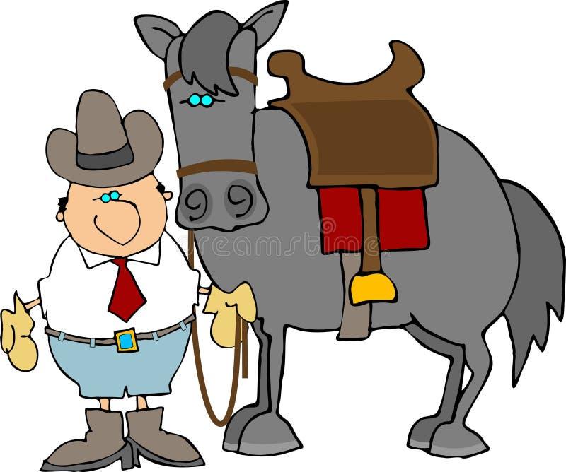 Un tipo y su caballo libre illustration