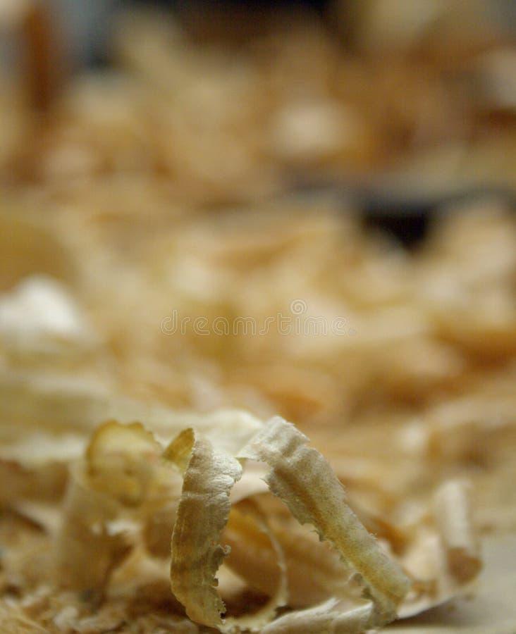 Un tir détaillé du rasage en bois photographie stock