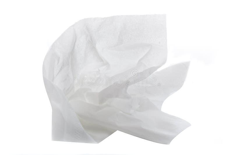 Un tissu blanc images stock