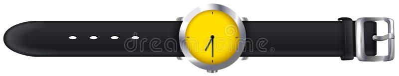 Un topview d'une montre illustration de vecteur