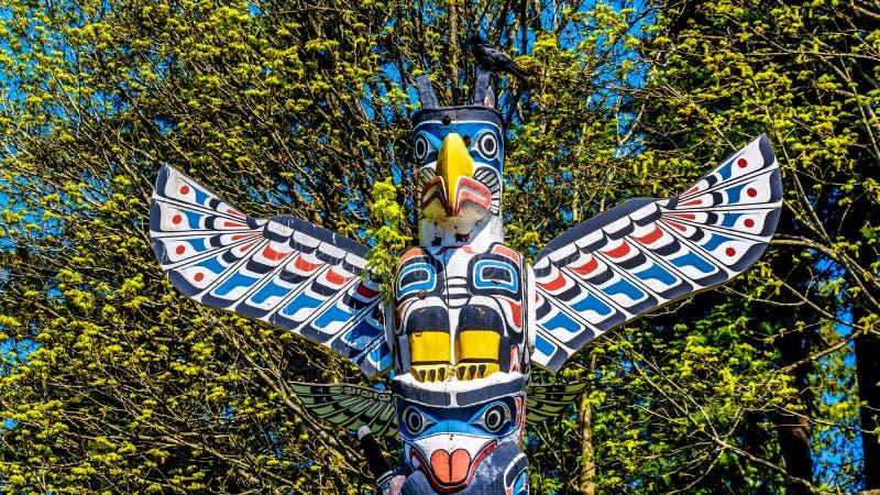 "Un totem palo ""di Kakaso ""Las ""in Stanley Park fotografia stock"