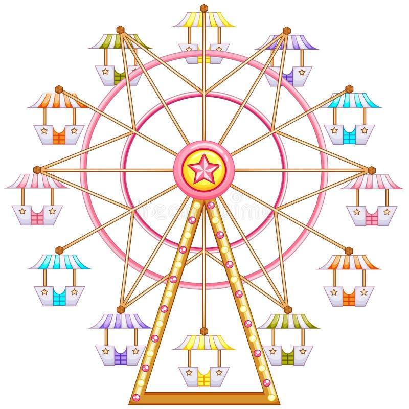 Un tour de roue de ferris illustration stock