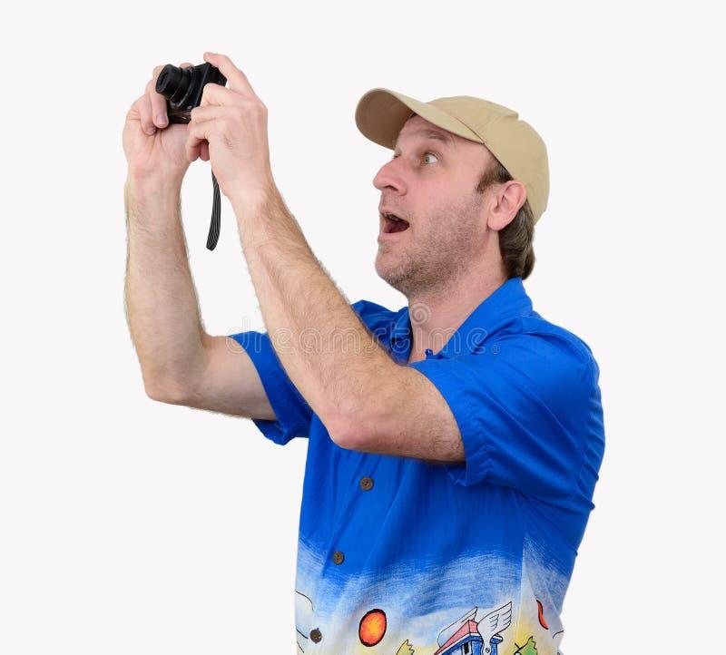 Un touriste prenant une photographie photo libre de droits
