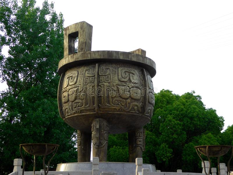 Un trépied de dynastie de Han image stock