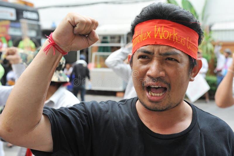 Protesta de los trabajadores foto de archivo