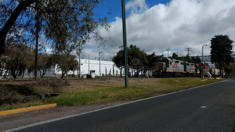 Un train dans Toluca photographie stock libre de droits