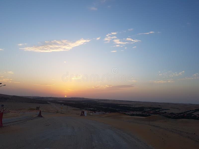 Un tramonto fotografia stock libera da diritti