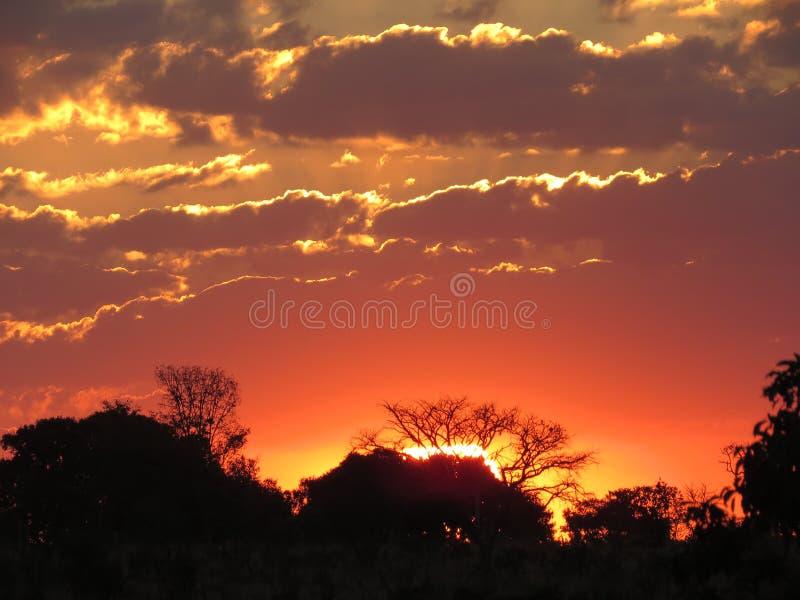 Un tramonto in Abadiania immagine stock