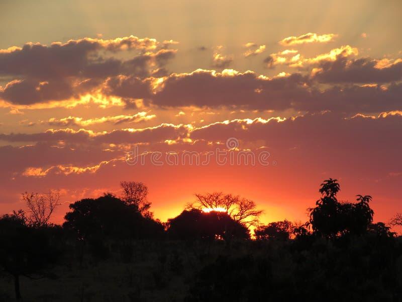 Un tramonto in Abadiania immagini stock libere da diritti