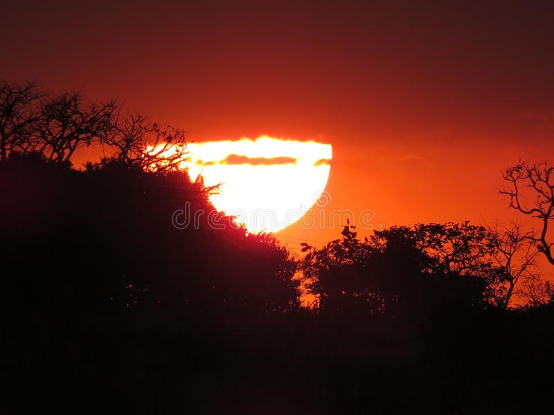 Un tramonto in Abadiania fotografie stock