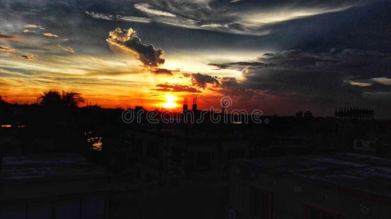 Un tramonto delizioso fotografie stock
