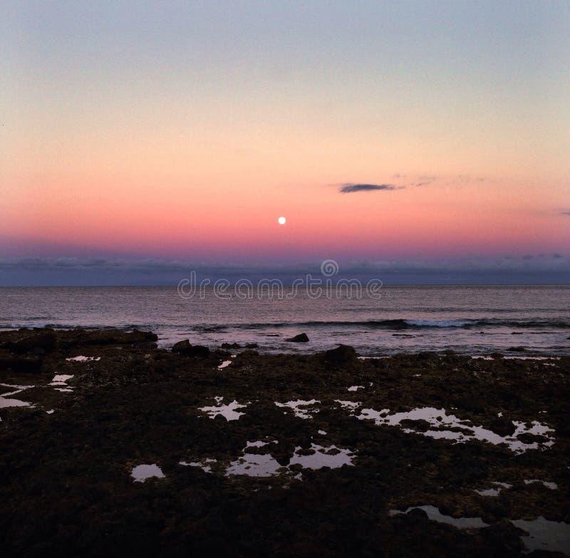 Un tramonto di estate fotografia stock