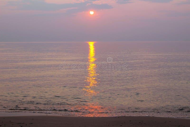 Un tramonto sublime fotografie stock libere da diritti