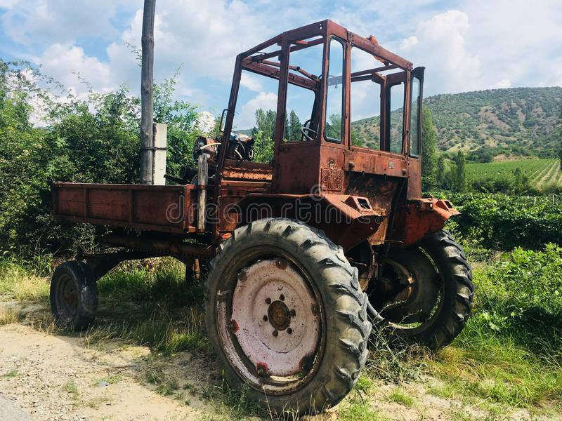 Un trattore sovietico di 1972 immagine stock libera da diritti