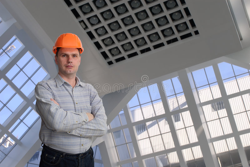 Un travailleur de la construction photographie stock