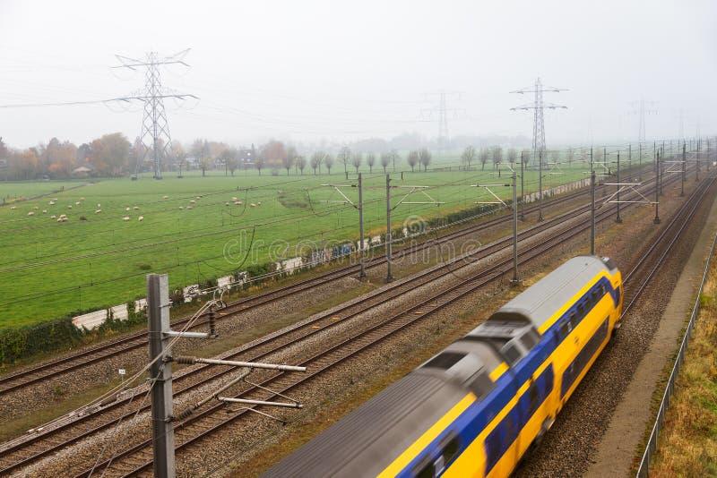 Tren holandés imagenes de archivo