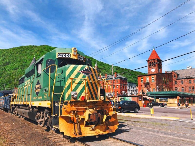 Un treno da Jim Thorpe Station fotografia stock libera da diritti