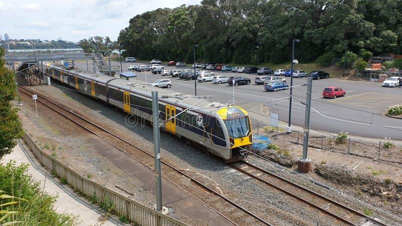 Un treno per pendolari Auckland Transport fotografie stock libere da diritti