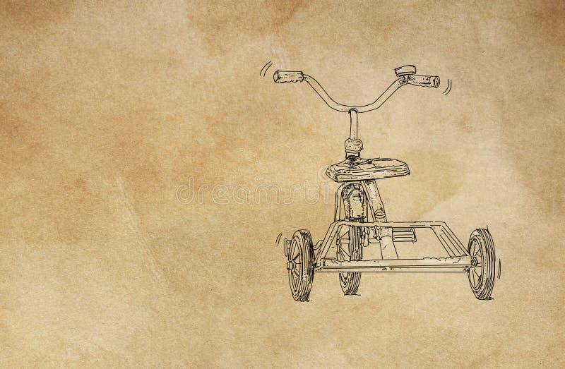 Un triciclo de los a?os 50 para los ni?os fotos de archivo
