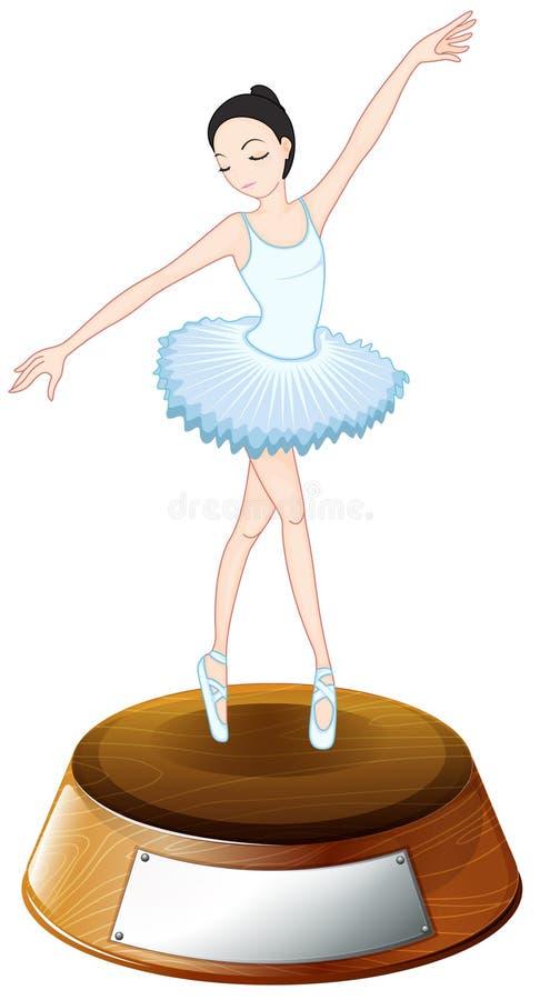 Un trofeo della ballerina illustrazione di stock