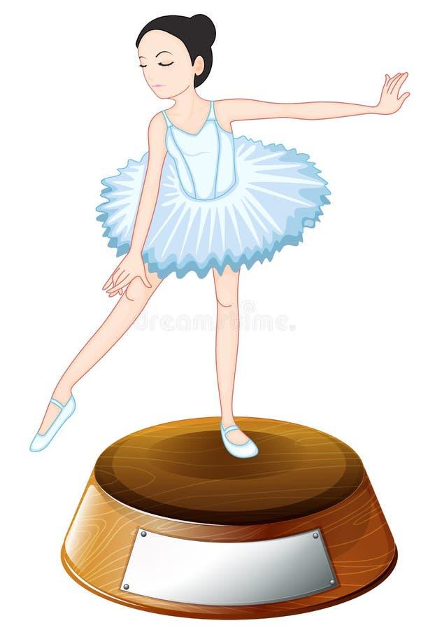 Un trofeo per il dancing di balletto royalty illustrazione gratis
