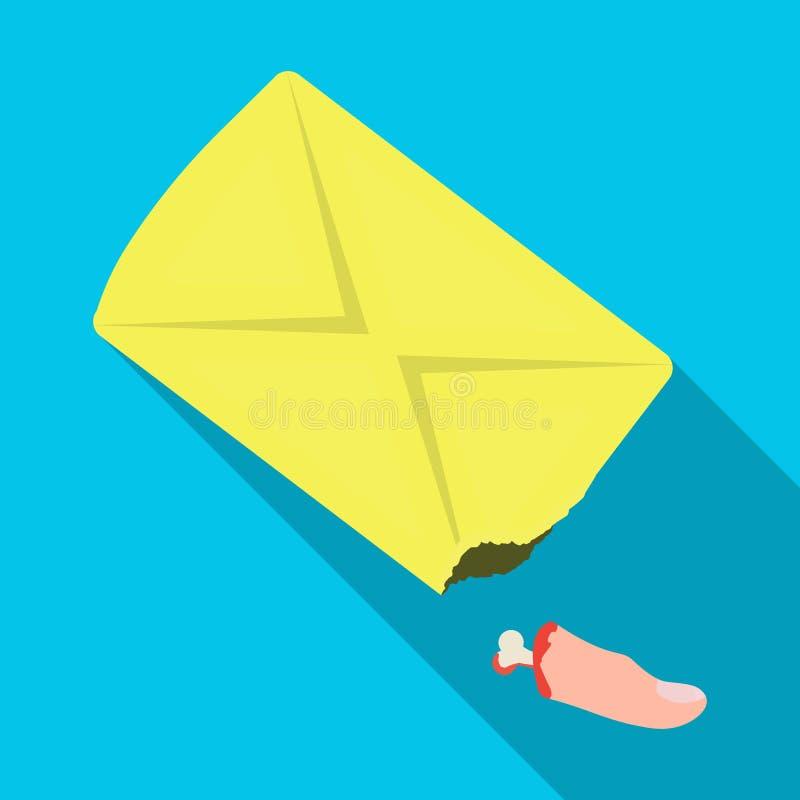 Un tronçon d'un doigt, un crime Icône simple de phalange ensanglanté de doigt en Web plat d'illustration d'actions de symbole de  illustration stock
