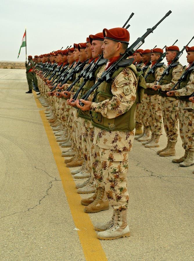 UN Troops Line Up No 2. Editorial Stock Image