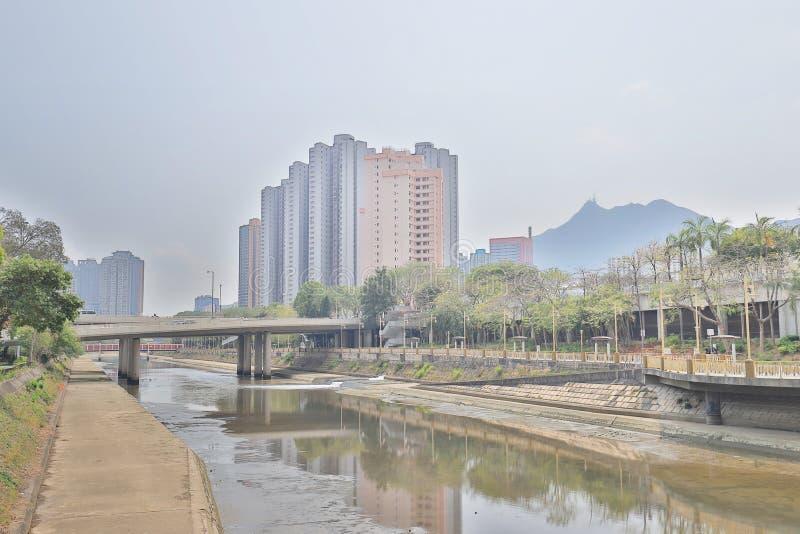 un Tuen Mun Riverside Park a tempo di giorno di Tuen MU fotografia stock