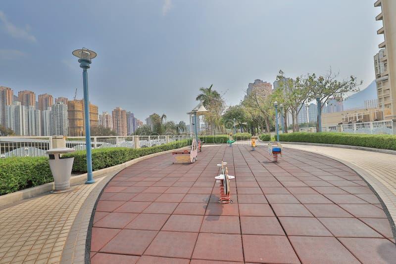 un Tuen Mun Riverside Park a tempo di giorno di Tuen MU fotografie stock libere da diritti