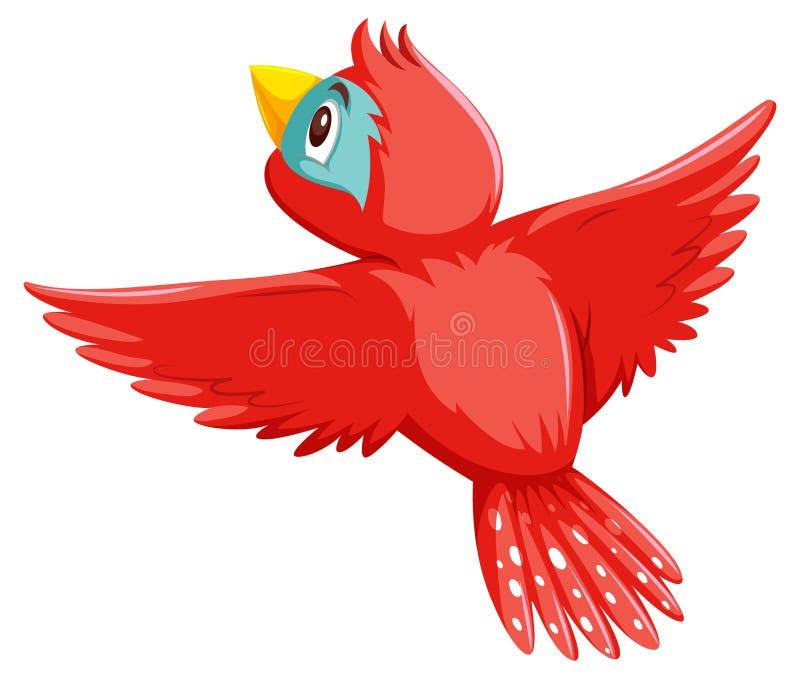Un uccello abbastanza rosso illustrazione vettoriale