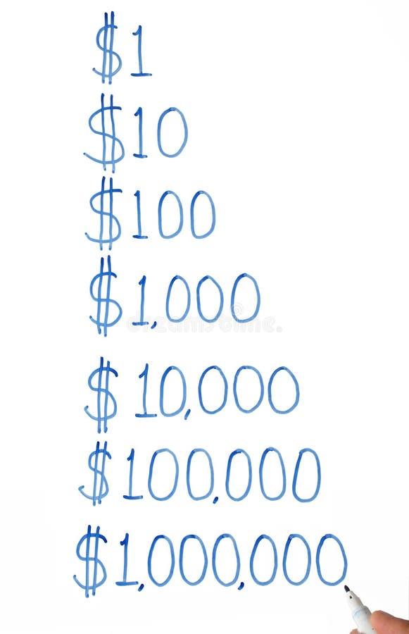 Un - un milione di dollari. illustrazione vettoriale