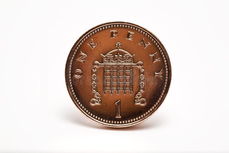 Un un primer británico de la moneda del penique imágenes de archivo libres de regalías