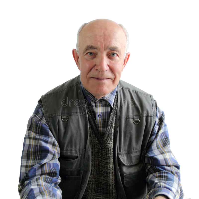 Un uomo anziano fotografia stock libera da diritti