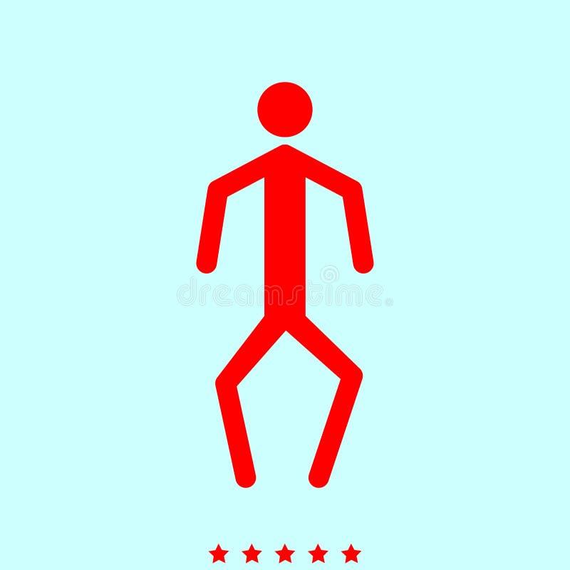 Un uomo con le gambe curvate è icona illustrazione vettoriale